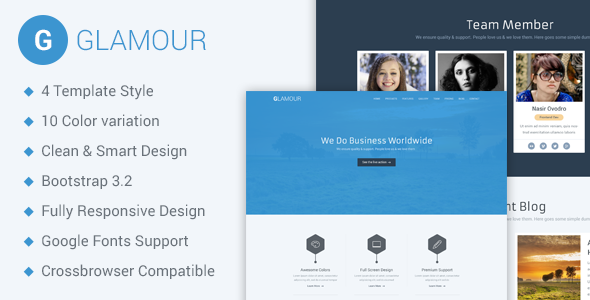 Glamour html business template