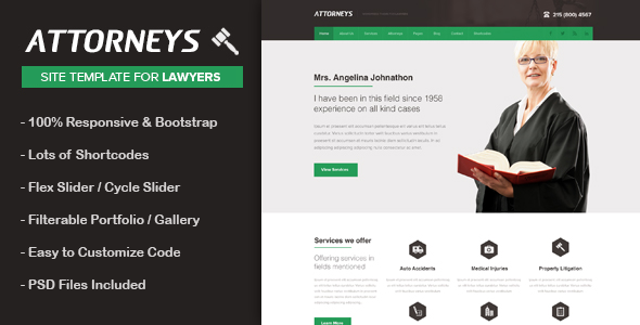 Attorney html business template