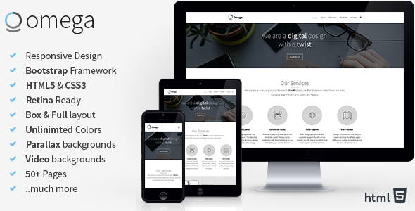 Omega html business template