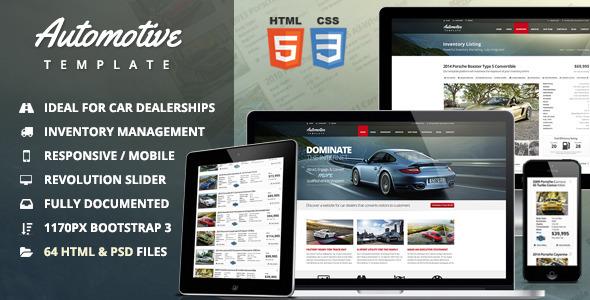 Automotive html business template
