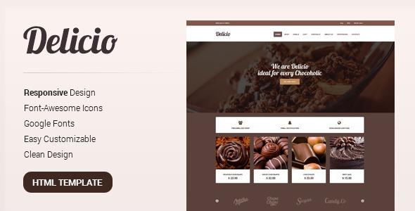 Delicio html retail shopping template