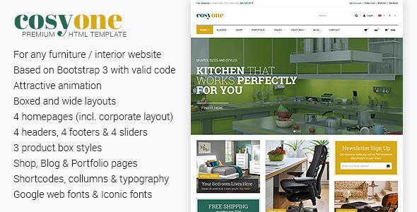 Cosyone html retail template