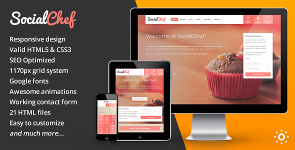 Socialchef html retail food template
