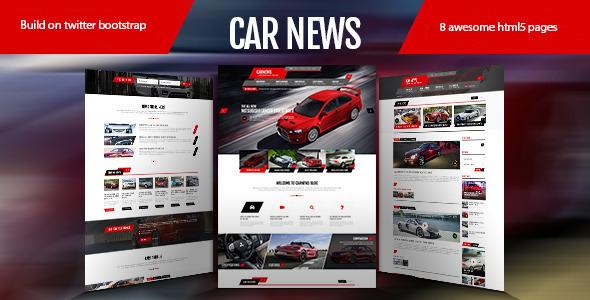 Car news html retail template