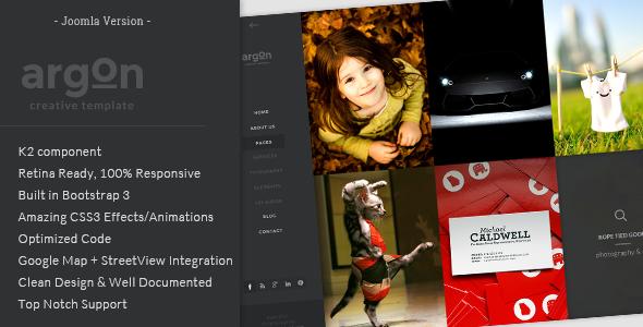 Argon joomla portfolio template