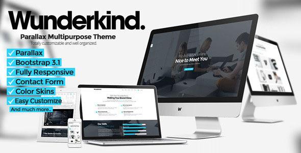 Wunderkind joomla portfolio template