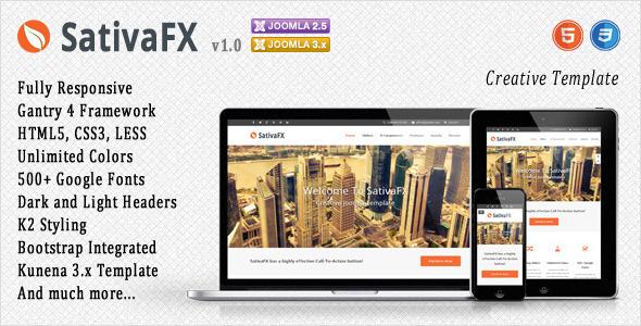 Sativafx joomla portfolio template