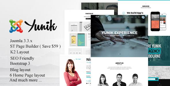 Yunik joomla portfolio template