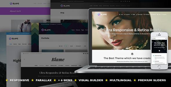 Blame wordpress business theme