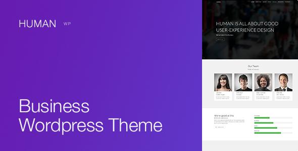 Human wordpress business theme