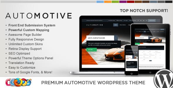 Wp pro automotive wordpress business theme