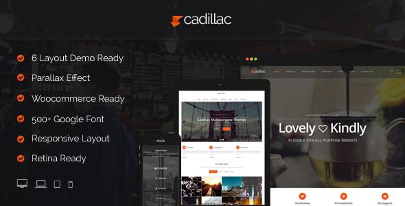 Cadillac wordpress business theme