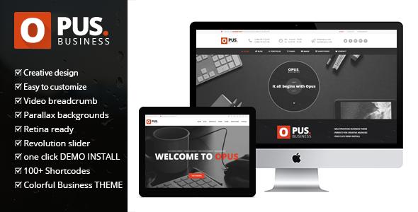 Opus wordpress business theme