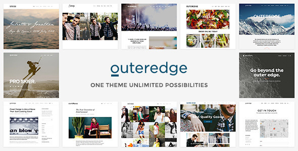 Outeredge wordpress gallery theme