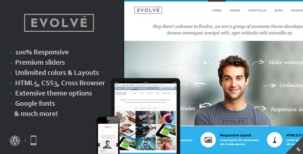 Evolve wordpress gallery theme