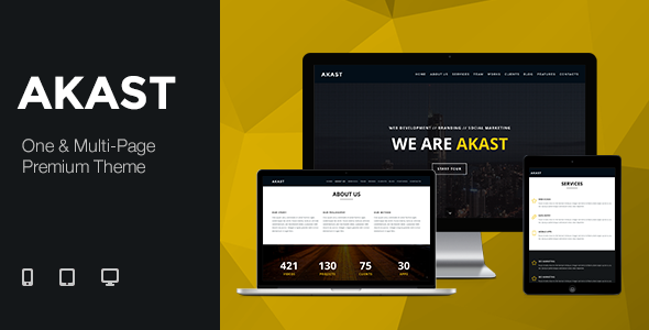 Akast wordpress gallery theme