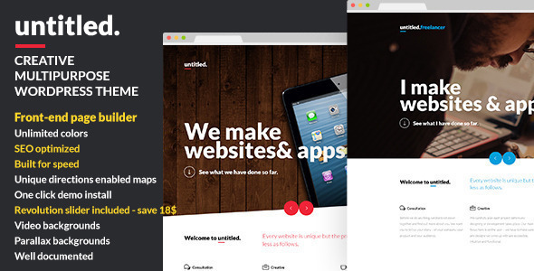 Untitled wordpress gallery theme