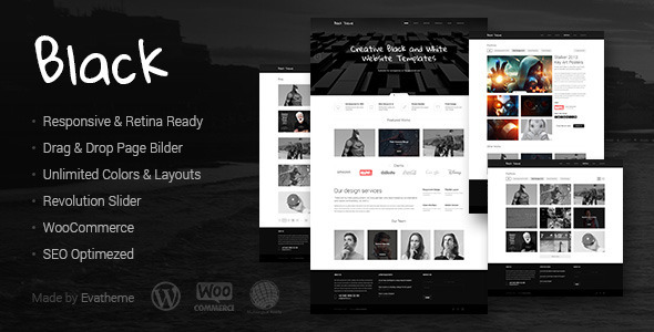 Black wordpress gallery theme