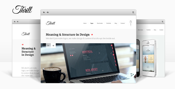 Thrill wordpress gallery theme