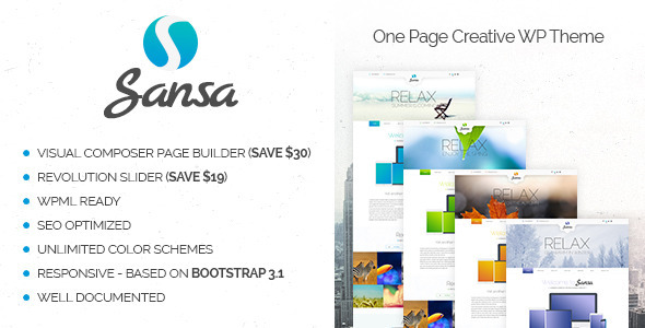 Sansa wordpress gallery theme
