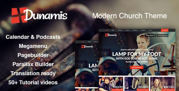 Dunamis wordpress nonprofit churches theme