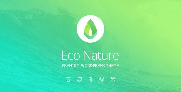 Eco nature wordpress nonprofit environmental theme