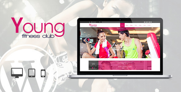 Young fitness wordpress retail health & beauty theme