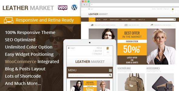 Leather market wordpress retail fashion theme