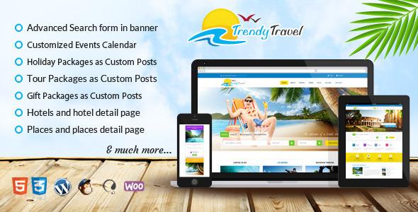 Trendy travel wordpress retail travel theme