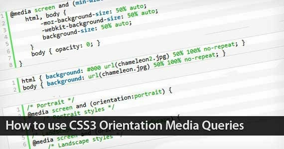 Use css3 orientation media queries tutorial