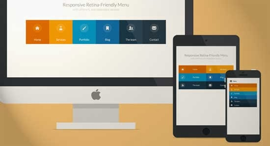 Responsive retina-ready menu tutorial