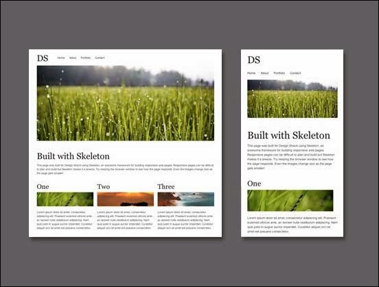 Build a responsive, mobile-friendly web page with skeleton tutorial
