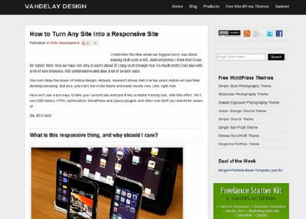 Turn any site into a responsive site tutorial