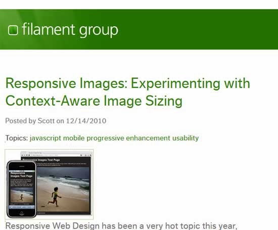Responsive images: experimenting with context-aware image sizing tutorial
