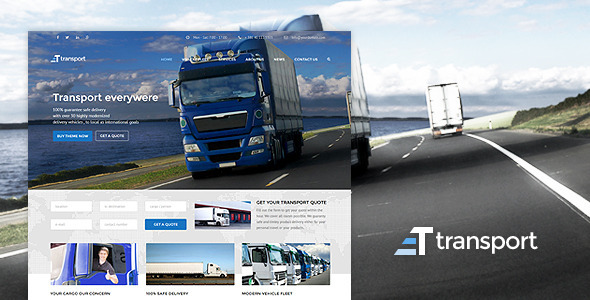 transport wp transport logistic theme