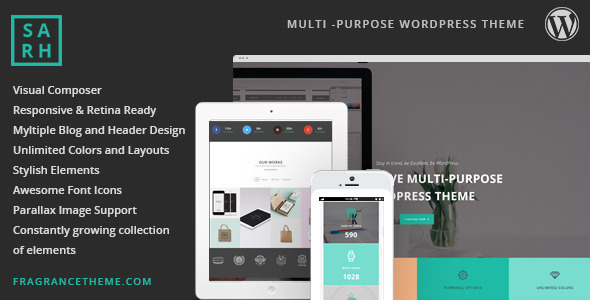 sarah responsive multipurpose theme