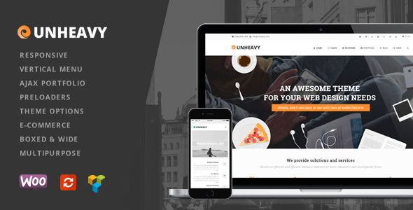 unheavy multipurpose responsive wordpress theme
