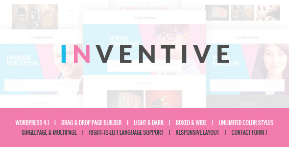 inventive single multipage wordpress theme