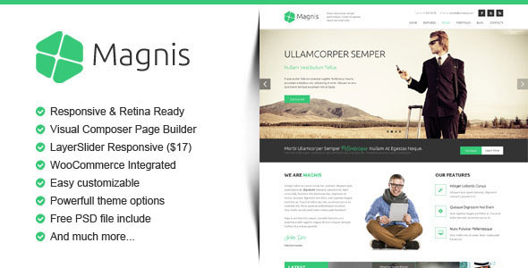 magnis corporate multipurpose wordpress theme