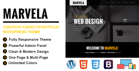 marvela agencyportfolio multipurpose wp theme