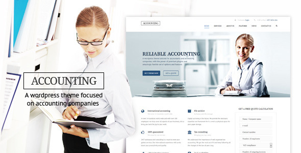 accounting wp business theme for accountants
