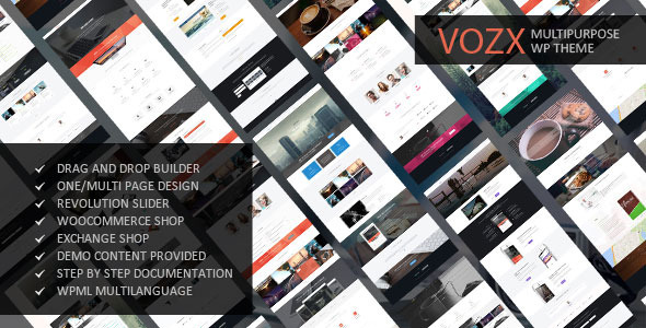 vozx multipurpose wordpress theme