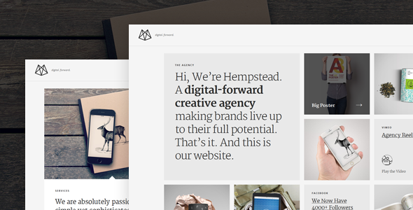 hempstead responsive wordpress profile theme