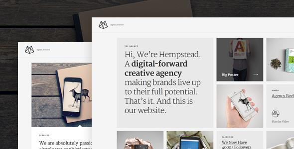 hempstead responsive wordpress profile theme