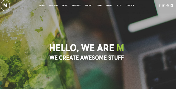 m imaginative multipurpose wp one page theme