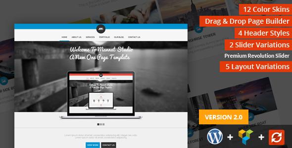 mannat studio parallax one web page wordpress theme