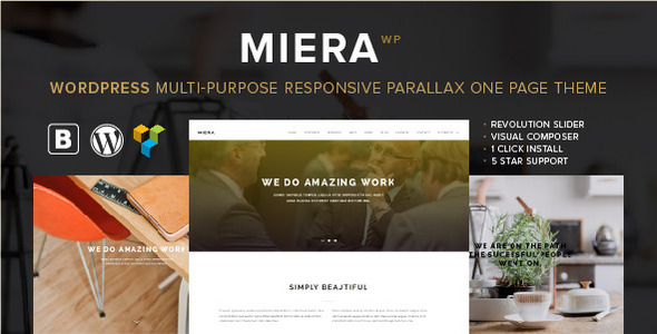 miera multipurpose responsive parallax one web page