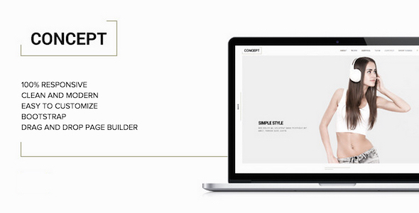 concept minimal wordpress profile theme
