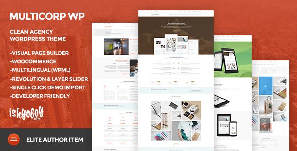 multicorp wp clean agency wordpress theme