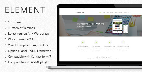 element multipurpose wordpress theme
